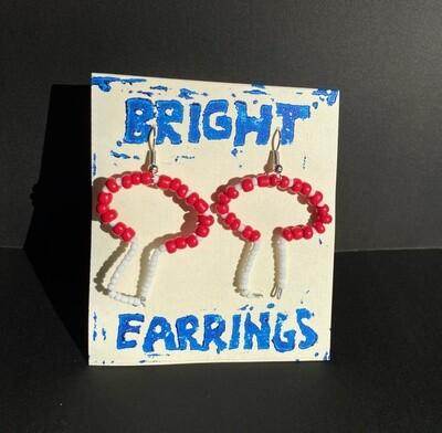 Mushroom Earrings (Bright Earrings)