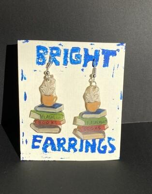 Stack of Books Earrings (Bright Earrings)