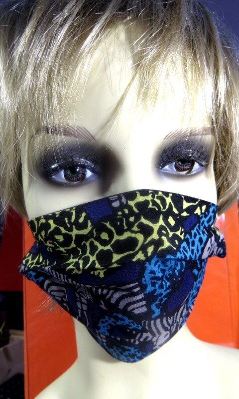 Masques coton safari bleu