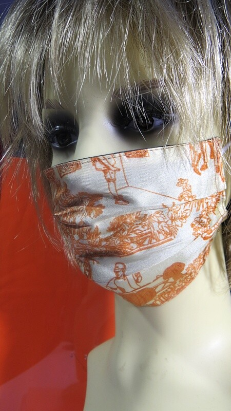 Masque en soie orange