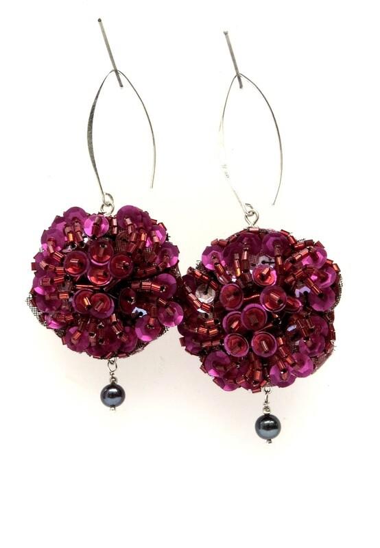 Boucles Oreilles Fleurs et Perles Culture