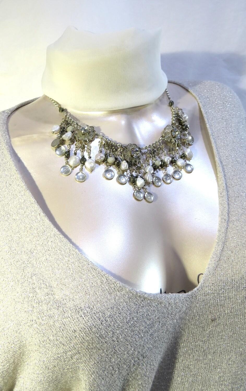 """Collier """"Notre Dame"""" perles de culture"""
