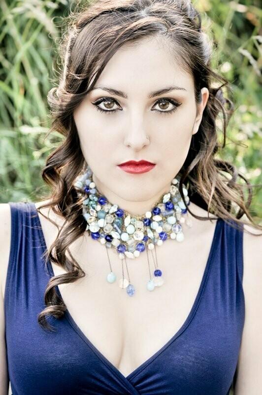 Collier Haute Couture Esmelralda Bleu