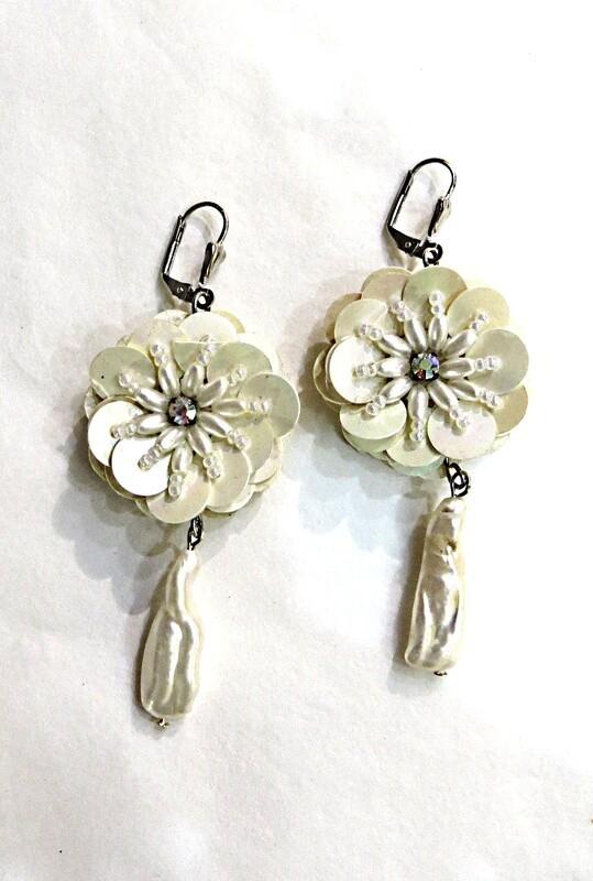 Boucles d'oreilles Perles Culture baroques