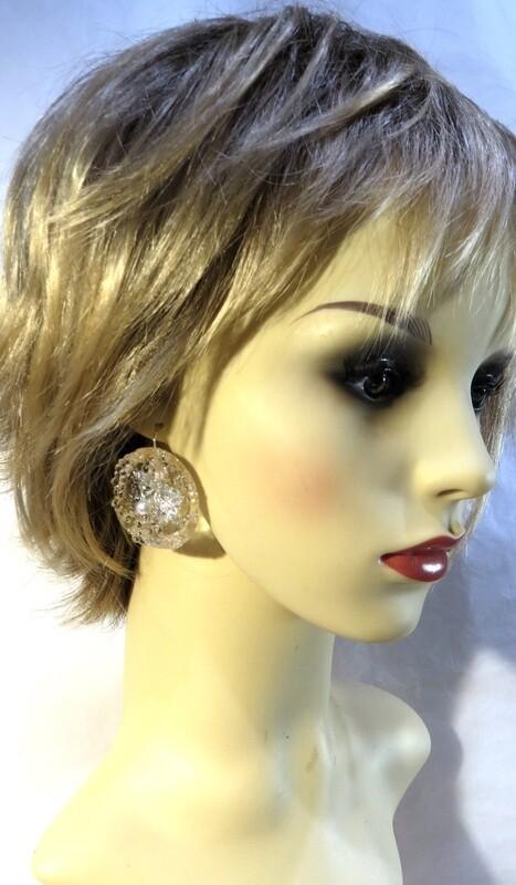 Boucles Oreilles Cristal et Perles Culture