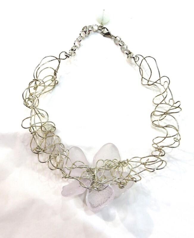 Collier Liane Anémone et Perles Culture