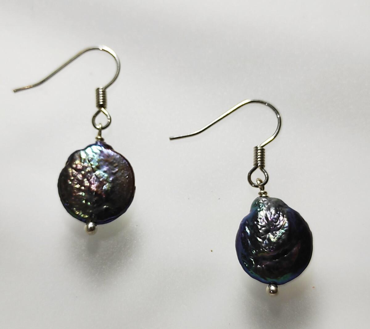 Boucles Perles Culture noires.