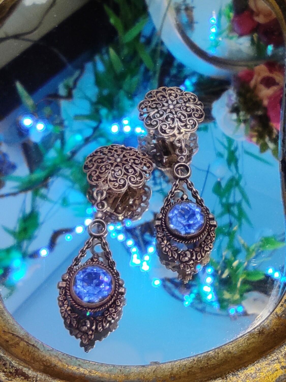 Clips vintage bleu