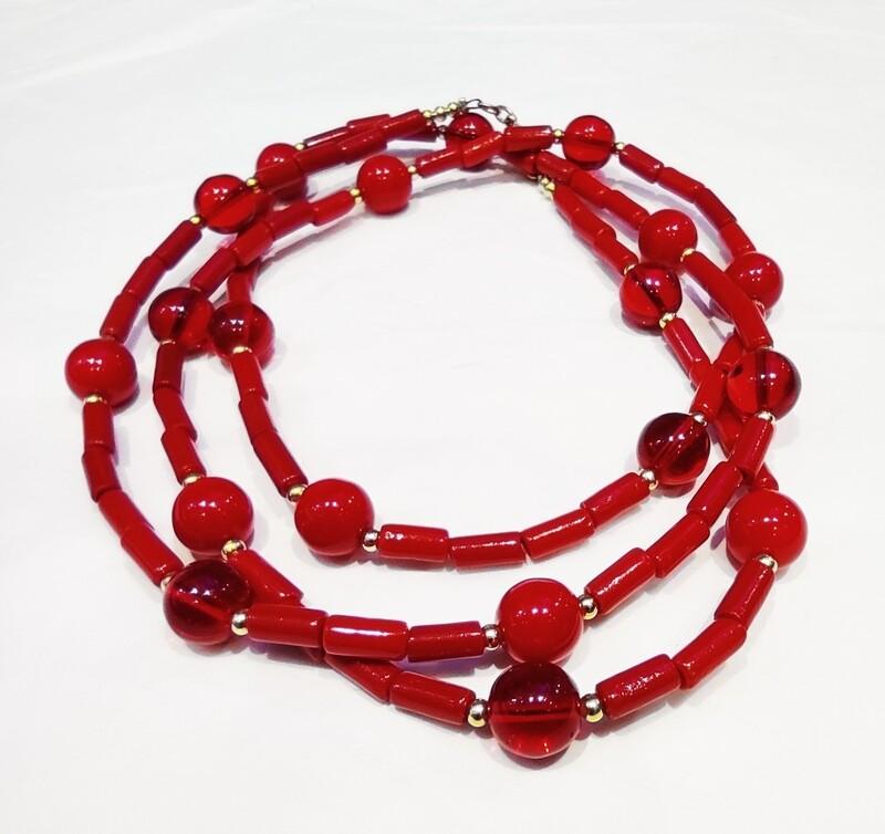 Sautoir rouge 2