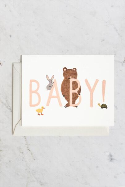 Baby Card - Peach