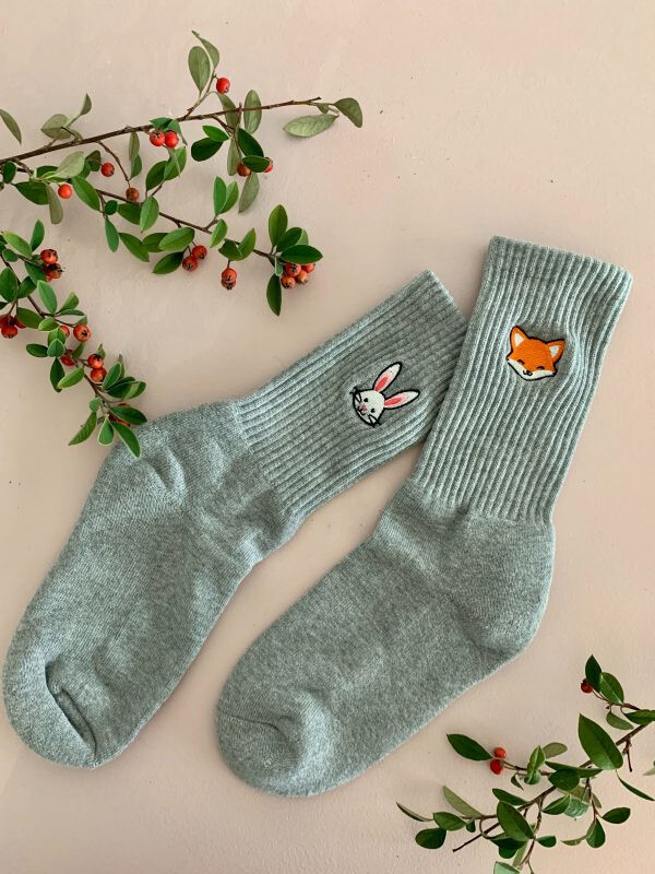Fox and Rabbit Socks