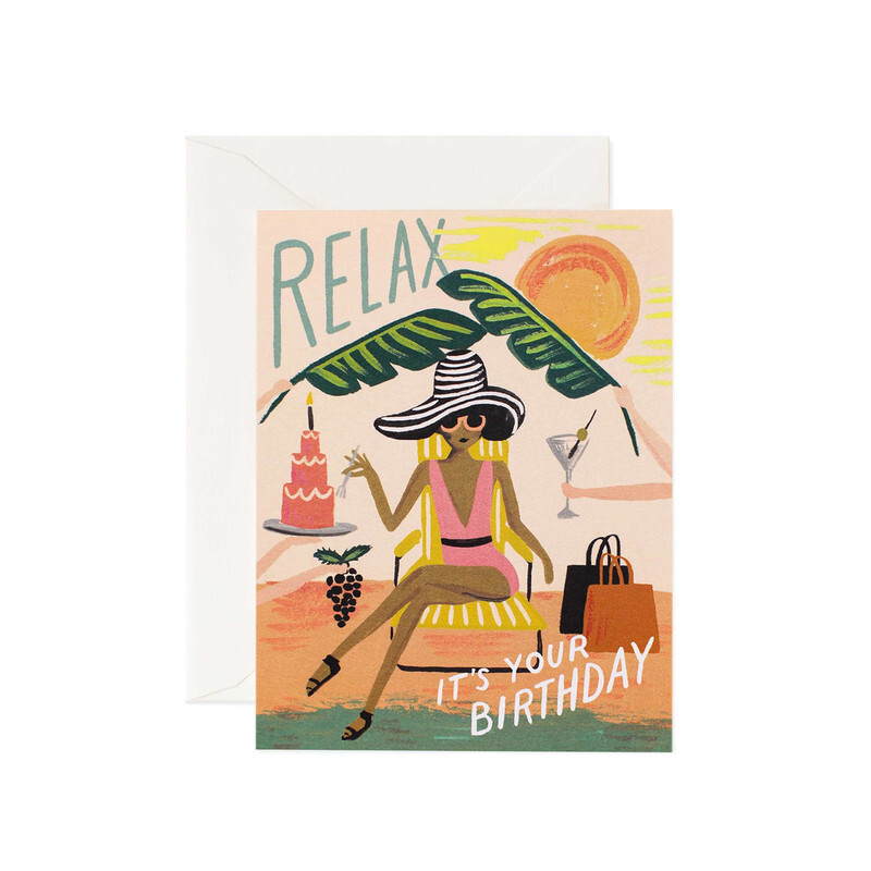 Happy Birthday Relax Card