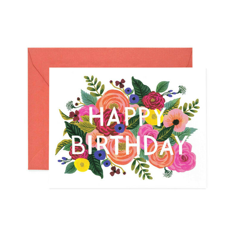 Happy Birthday Card - Juliet Roses