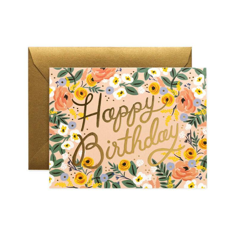 Happy Birthday Card - Gold Foil