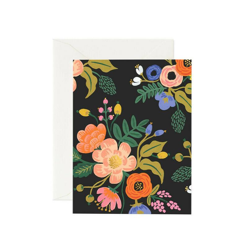 Lively Florals Black Card