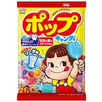 Леденцы на палочке Pop Candy Fujiya. 21шт