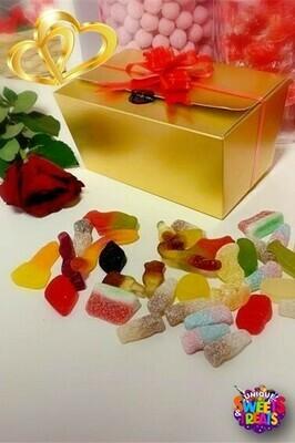 Gold Ballotin Valentines Gift Box