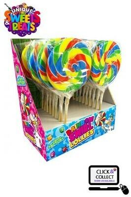 Crazy Candy Factory Rainbow Swirl Lollipops 80g