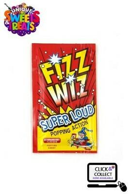 Fizz Wiz Poppin' Candy - Strawberry