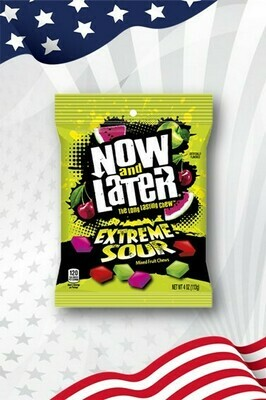 Now & Later Extreme Sour Fruit Chews - 4oz (113g)