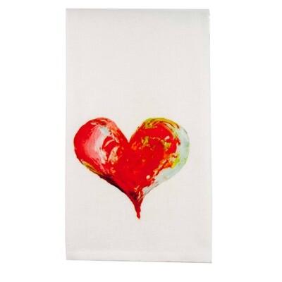 Colorful Heart Dishtowel