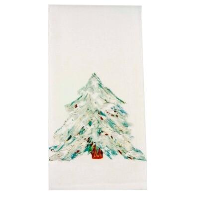 Blue-White Tree Dishtowel