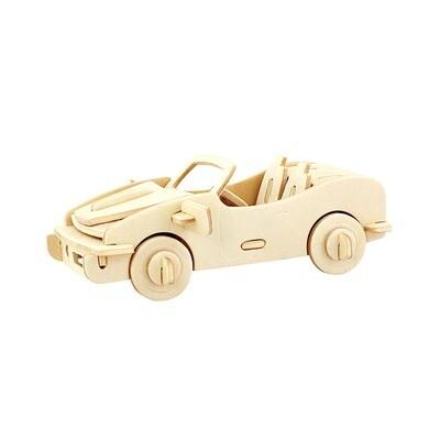 JP150, 3D Wooden Puzzle: Racing Car