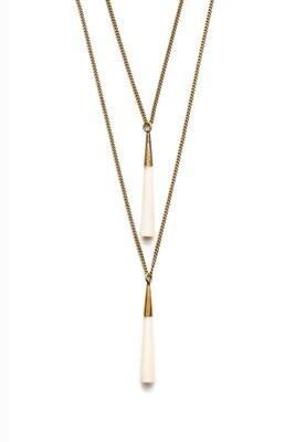 Mbili Double Pendant Necklace