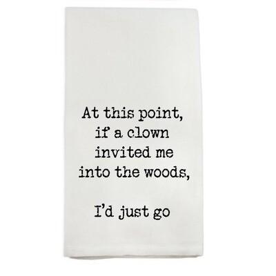 At This Point Clown Dishtowel