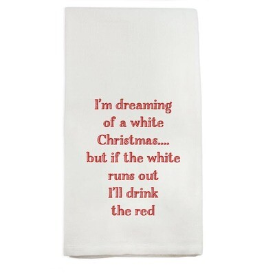 I'm Dreaming of a White Christmas Dishtowel