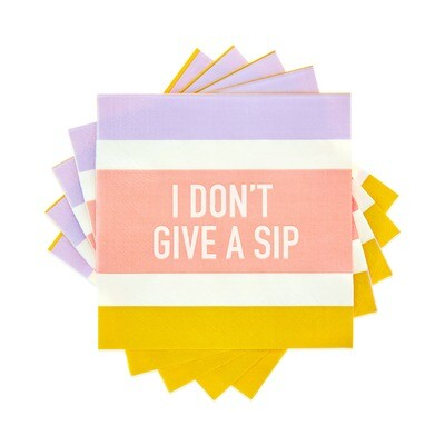 I Don't Give a Sip Cocktail Napkin