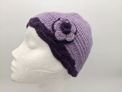100% Alpaca Flower Hat