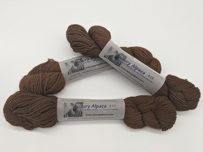 100% Alpaca Yarn Dark Brown color