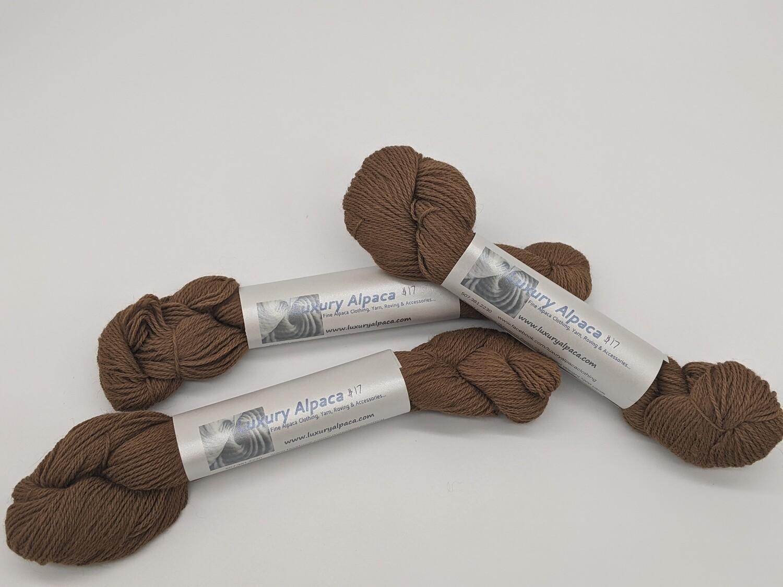 100% Alpaca Yarn Medium Fawn color