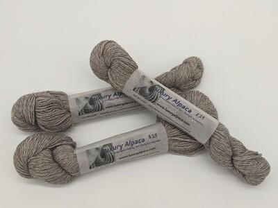 100% Alpaca Yarn Rose Grey color