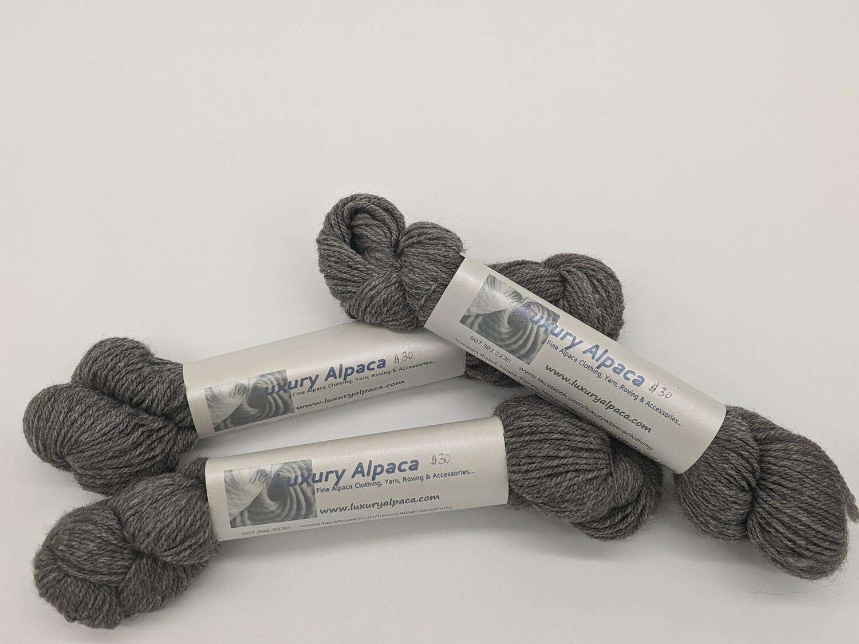 100% Alpaca Yarn Silver Gray color