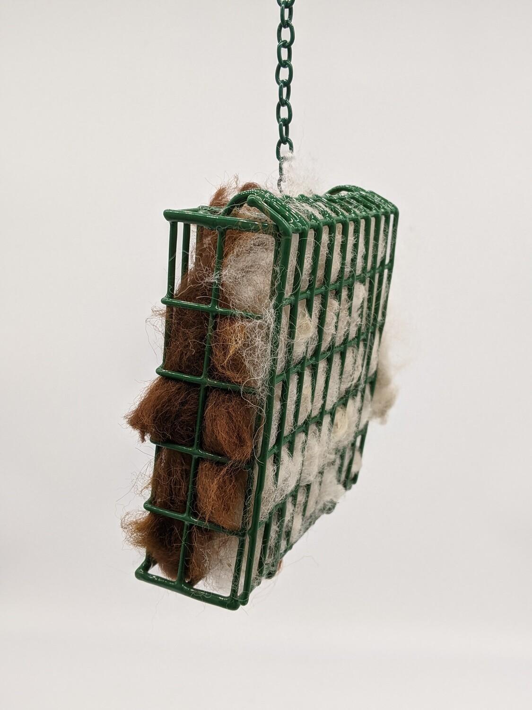Alpaca Fiber nesting material suet cage