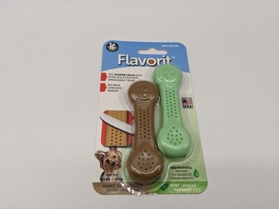 Pack of 2 Breath Mint and Peanut Butter Nylon Bones