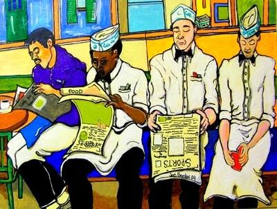 Cafe Du Monde Workers on Break by Jocasso - 21
