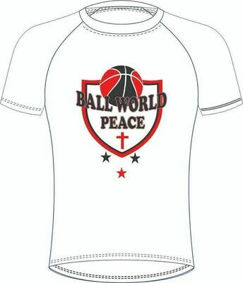 Ball World Peace White Tee
