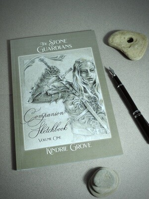 AUTHOR SIGNED AND REMARKED! The Stone Guardians Companion Sketchbook