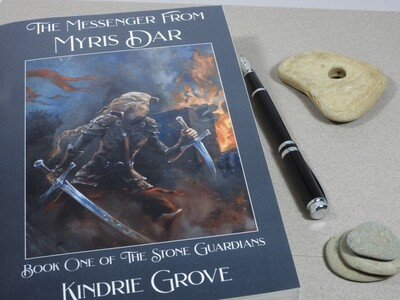 AUTHOR SIGNED AND REMARKED! The Messenger From Myris Dar: Book One of The Stone Guardians.