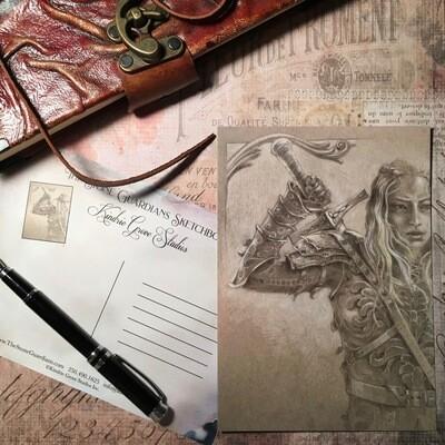 Study for Rowan, Postcard Print