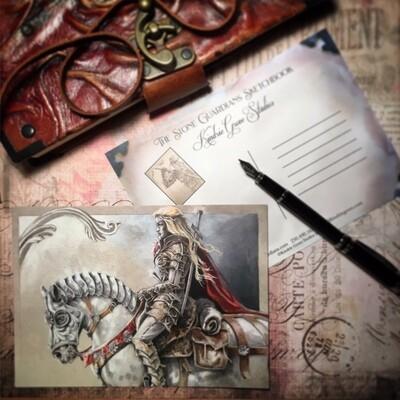 Rowan Rides, Postcard Print