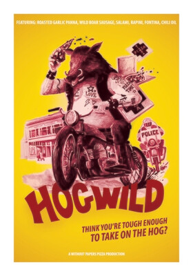 Hog Wild ~ 50cm x 70cm print