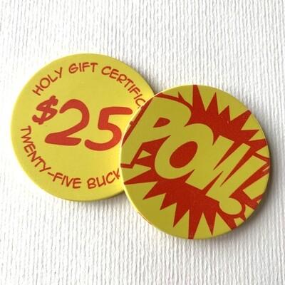 $25 POW! Pizza GC