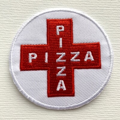 Red Pizza Cross Patch