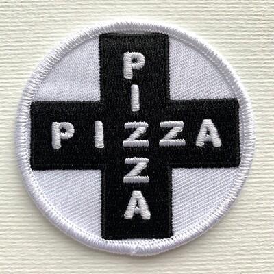 Black Pizza Cross Patch