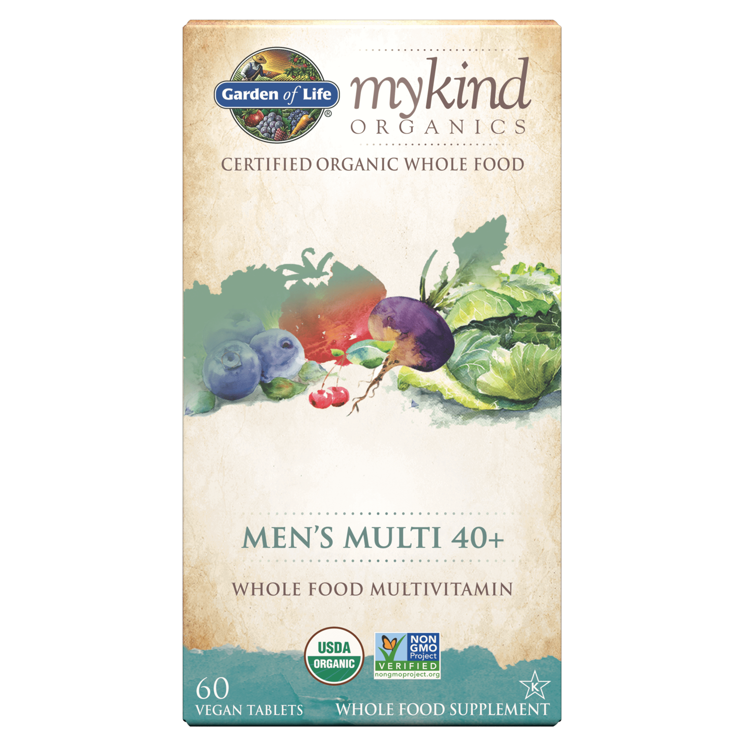 Garden of Life mykind Men's Multi 40+
