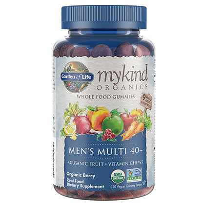 Garden of Life mykind Men's Muti Gummies 40+